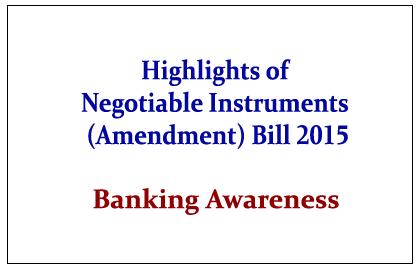 Negotiable Instrument (Amendment) Bill 2015