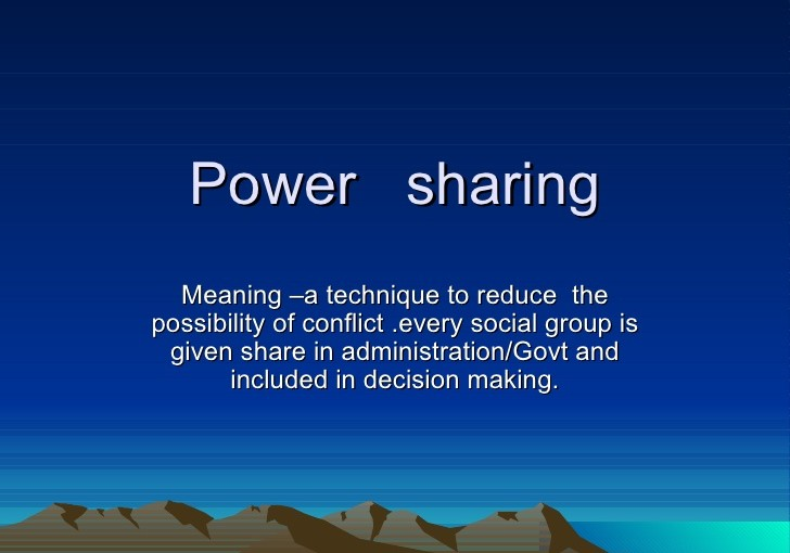 Power Sharing In Modern Democracies