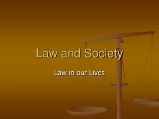 The Importance of Law in our Lives and in the Society
